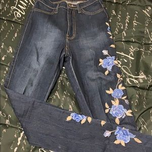 Blue floral Fashion Nova jeans